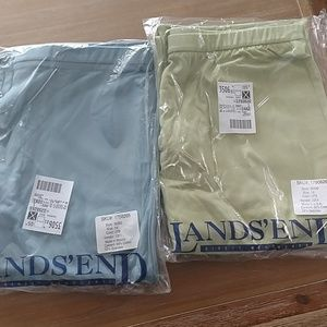 Land's End stretch pants blue or green